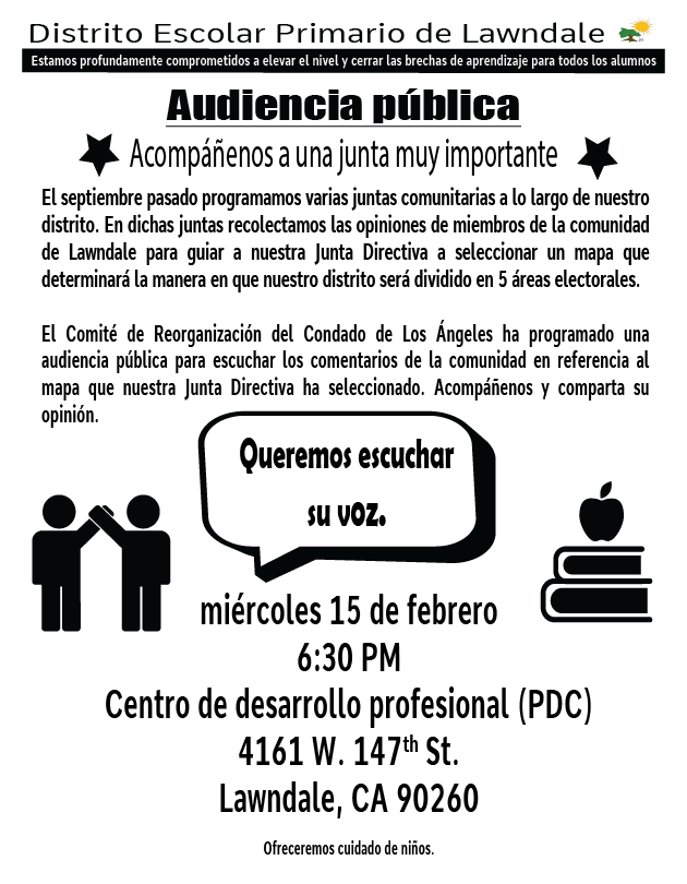 Public Hearing Flyer Spanish